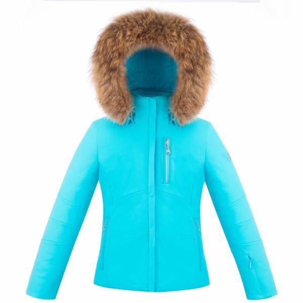 Куртка W18-0802 JRGL/B (с натуральным мехом) - фото 1