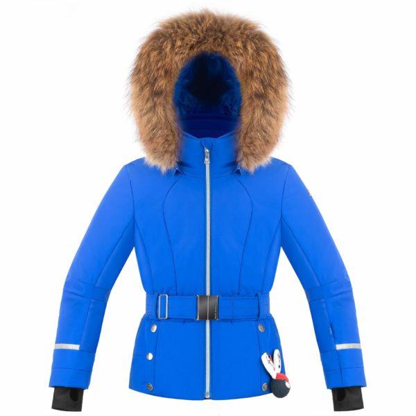 Куртка для девочки W19-1008-JRGL/В (с искусственным мехом) - фото 1