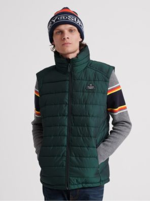 Мужской жилет Superdry Double Zip Fuji - фото 8