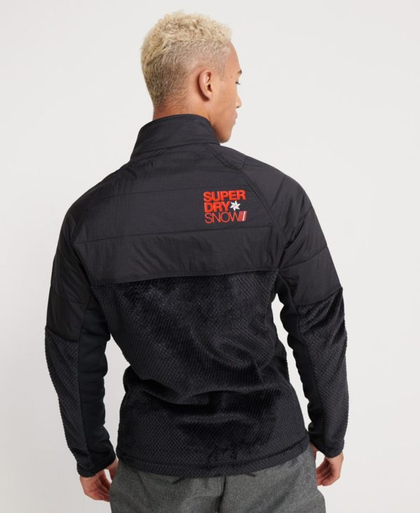 Мужская куртка Superdry Blizzard Fleece Zip Midlayer - фото 2