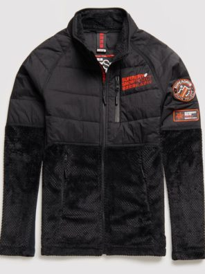 Мужская куртка Superdry Blizzard Fleece Zip Midlayer - фото 10