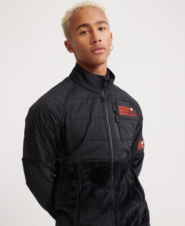 Мужская куртка Superdry Blizzard Fleece Zip Midlayer - фото 3