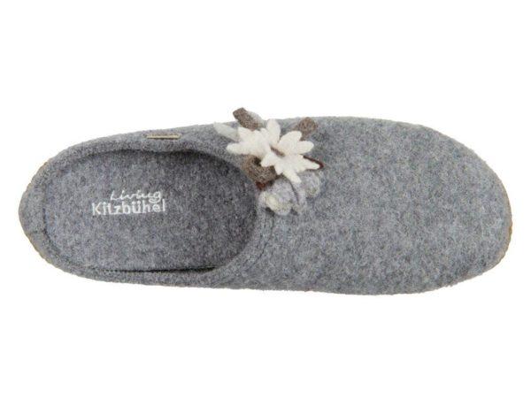 Тапочки Living Kitzbühel Edelweiß mit Fußbett Flache Hausschuhe - фото 3