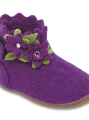 Тапочки Living Kitzbühel Babyklett Blume purple magic - фото 11