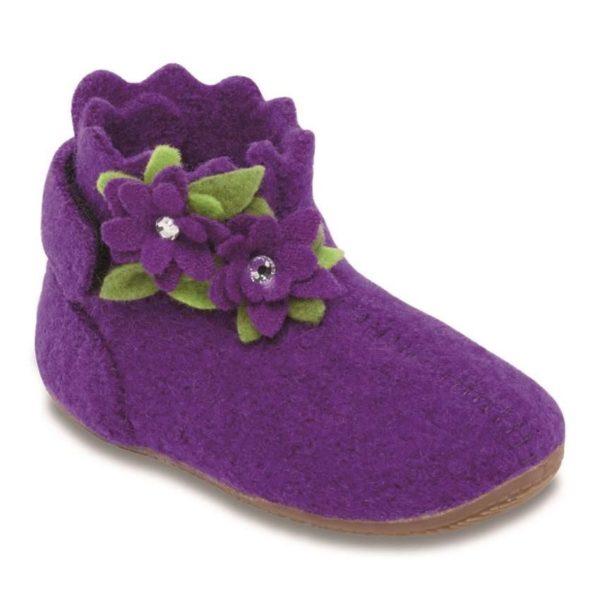 Тапочки Living Kitzbühel Babyklett Blume purple magic - фото 1
