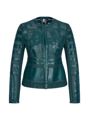 Женская куртка Sportalm из искусственной кожи зеленый - фото 8