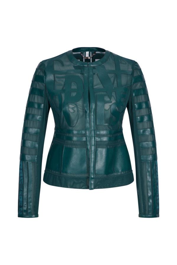Женская куртка Sportalm из искусственной кожи зеленый - фото 1