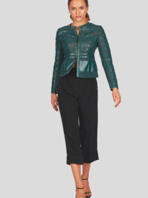 Женская куртка Sportalm из искусственной кожи зеленый - фото 9