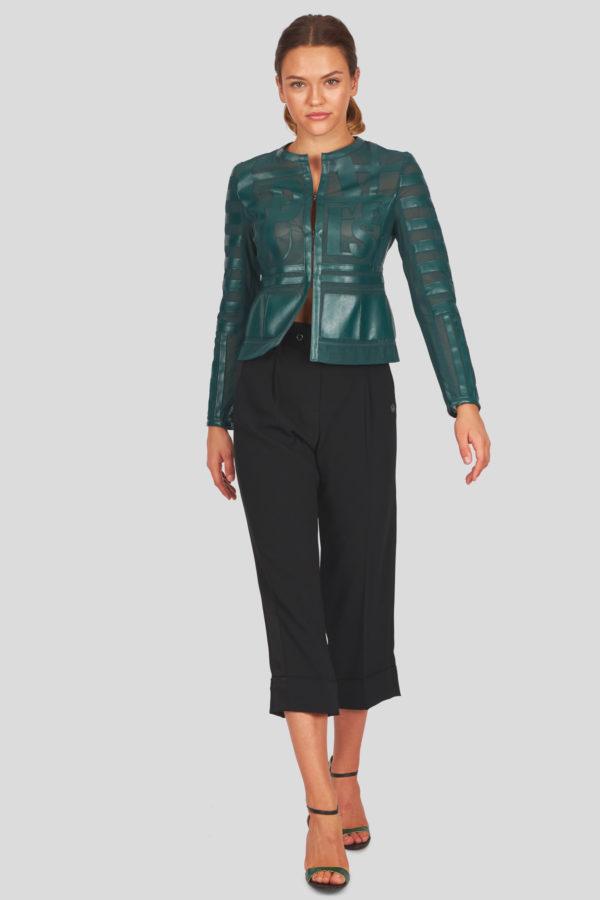 Женская куртка Sportalm из искусственной кожи зеленый - фото 2