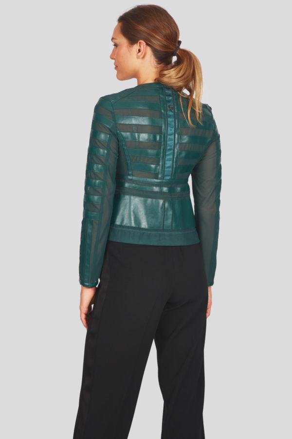 Женская куртка Sportalm из искусственной кожи зеленый - фото 3