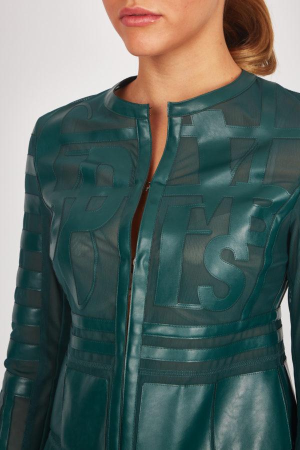 Женская куртка Sportalm из искусственной кожи зеленый - фото 4