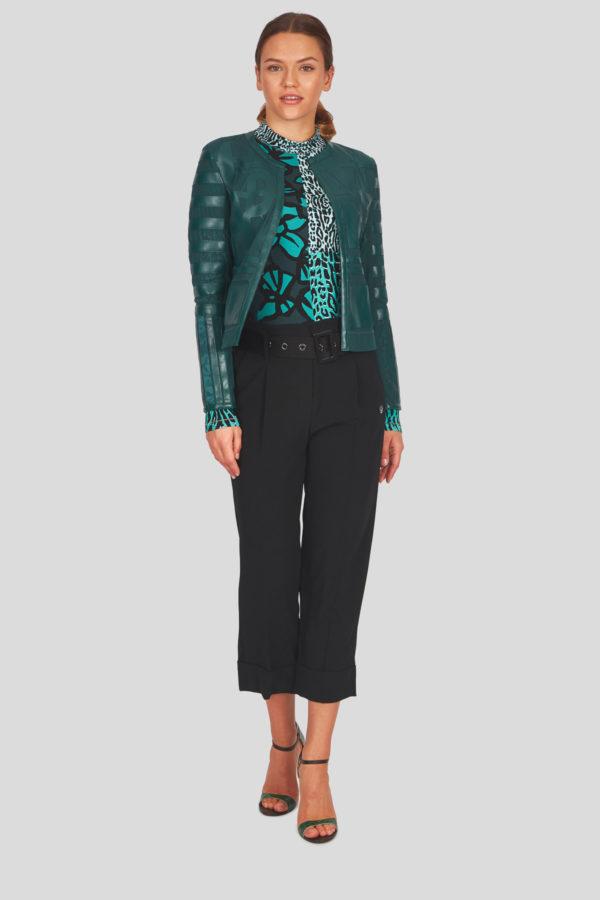 Женская куртка Sportalm из искусственной кожи зеленый - фото 7