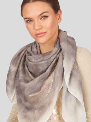 Женский модный шарф в леопардовом стиле - фото 8