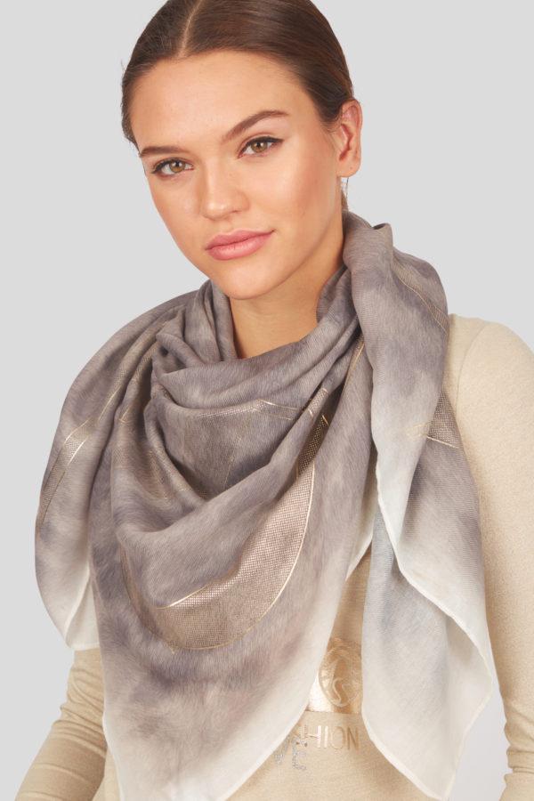 Женский модный шарф в леопардовом стиле - фото 2