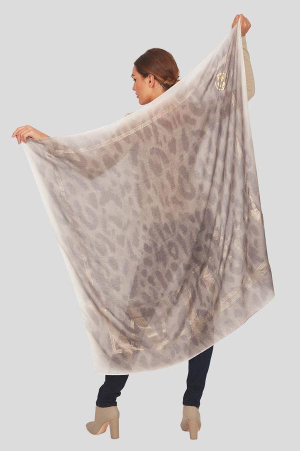 Женский модный шарф в леопардовом стиле - фото 5