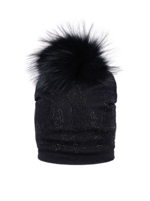 Женская шапка с меховым помпоном - фото 7