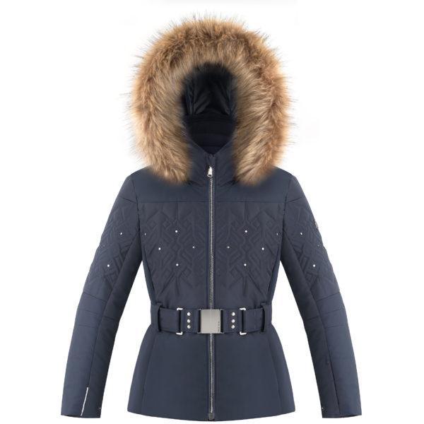 Детская куртка для девочки W20-1003-JRGL/A (с искусственным мехом) - фото 1
