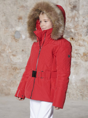 Детская куртка для девочки W20-1003-JRGL/A (с искусственным мехом) - фото 9