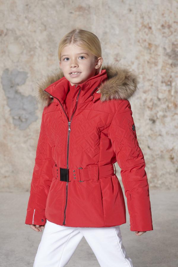 Детская куртка для девочки W20-1003-JRGL/A (с искусственным мехом) - фото 3
