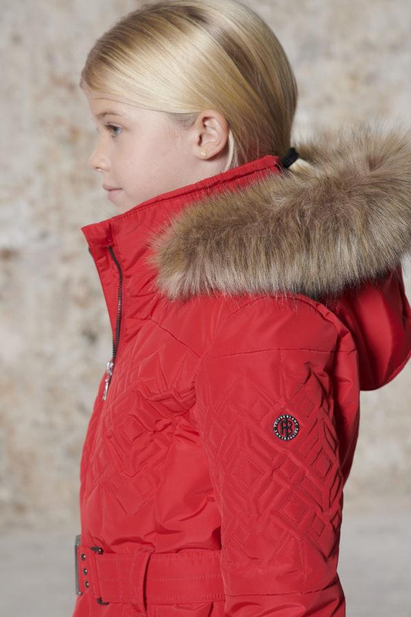 Детская куртка для девочки W20-1003-JRGL/A (с искусственным мехом) - фото 5