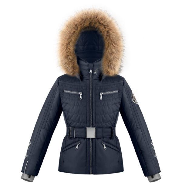 Детская куртка для девочки W20-1002-JRGL/A (с искусственным мехом) - фото 1