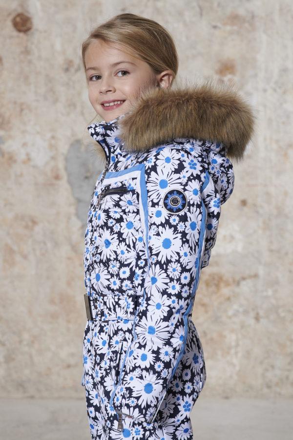 Детский комбинезон для девочки W20-1031-JRGL/A (с искусственным мехом) - фото 3