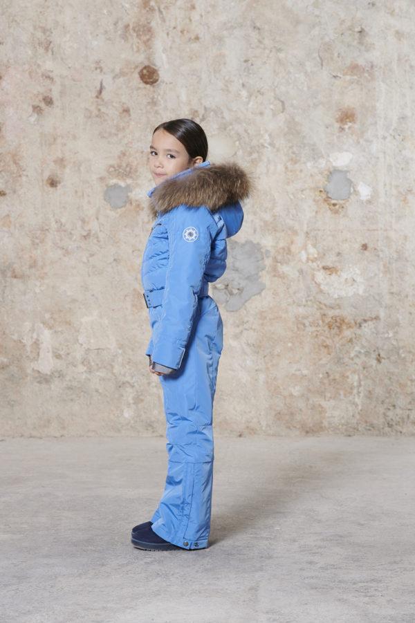 Детский комбинезон для девочки W20-1031-JRGL/A (с искусственным мехом) - фото 2