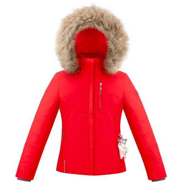 Детская куртка для девочки W20-0802-JRGL/A (искусственный мех) - фото 1