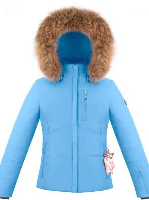 Детская куртка для девочки W20-0802-JRGL/B (натуральный мех) - фото 3