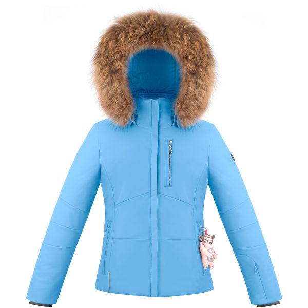 Детская куртка для девочки W20-0802-JRGL/B (натуральный мех) - фото 1