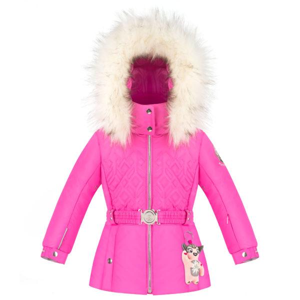 Детская куртка для девочек W20-1003-BBGL/A (искусственный мех) - фото 1