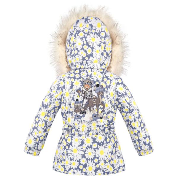 Детская куртка для девочек W20-1003-BBGL/A (искусственный мех) - фото 2