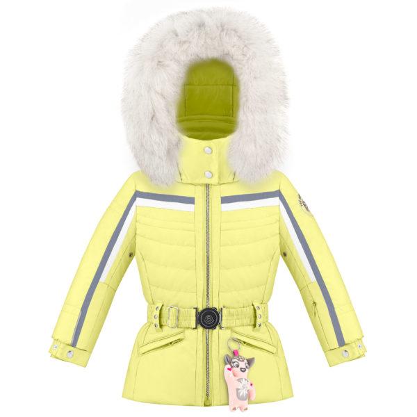 Детская куртка для девочек W20-1002-BBGL/A (натуральный мех) - фото 1
